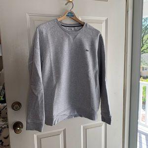 Like New! Men's Lacoste Gray Crewneck Sweatshirt